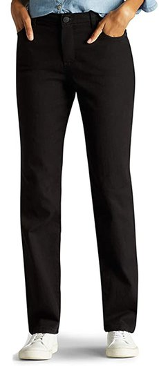 Lee Instantly Slims Classic Relaxed Fit Monroe Straight Leg Jean | 40plusstyle.com