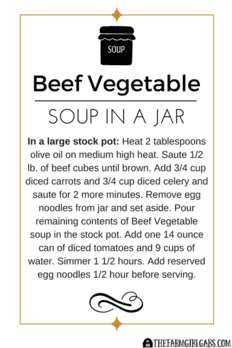 Win Over Winter With This Simple DIY Beef Vegetable Soup In A Jar Gift Idea. #WinOverWinter