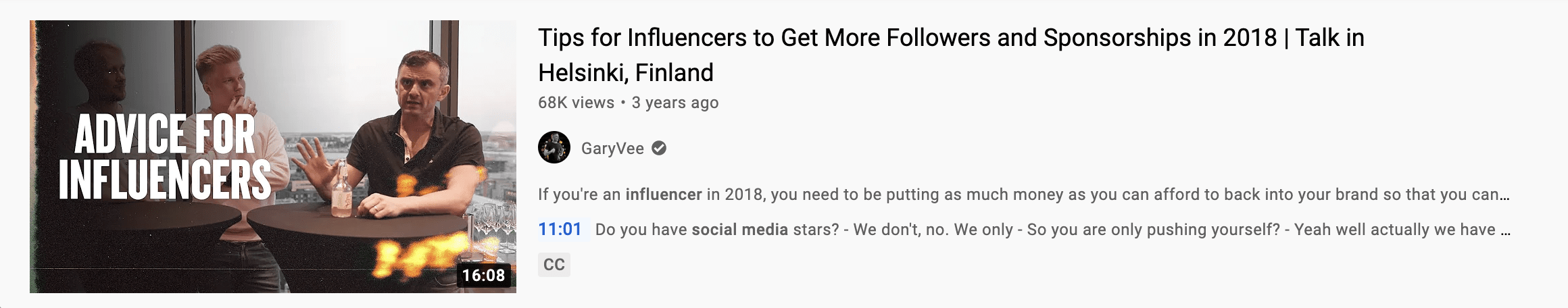 youtube influencer thumbnail example