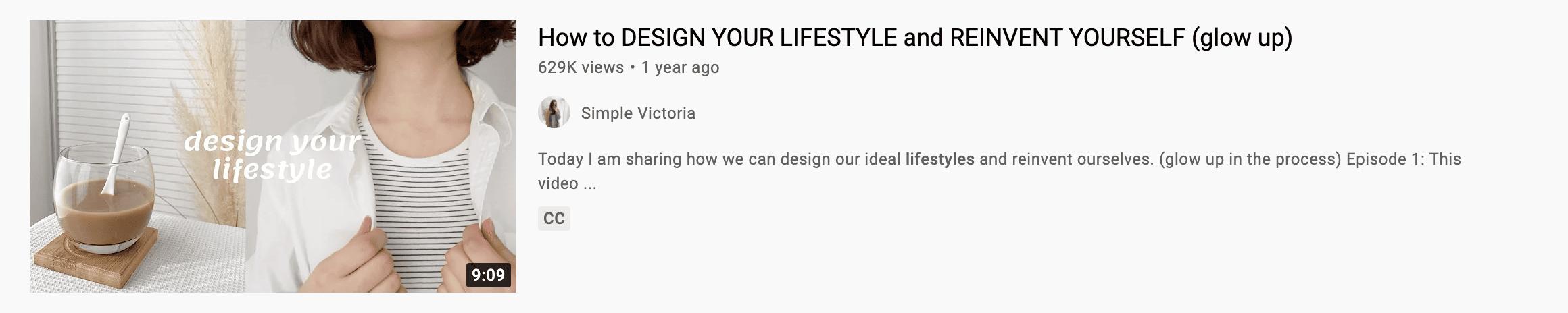 youtube lifestyle thumbnail example