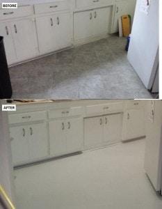 peel and stick vinyl floor kitchen installation