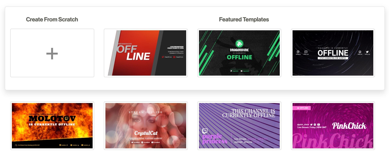 Twitch offline banner templates
