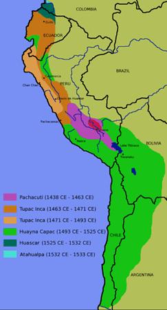 インカ帝国勢力図