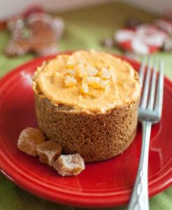 Gingerbread Muffin In A Minute w/ Pumpkin Cream Cheese