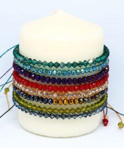 brazaletes de cristal