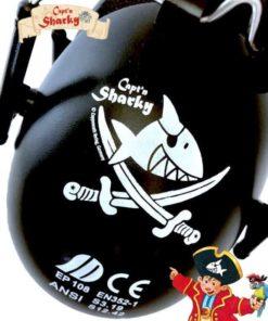 Kinder Gehörschutz Pirat Captn Sharky schwarz mit Figur