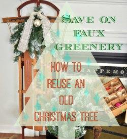 Jennifer Rizzo reusing an old Christmas tree button