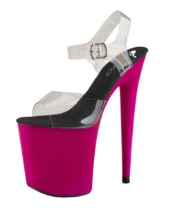 Pink and black UV stiletto