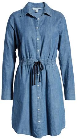 1901 chambray shirtdress | 40plusstyle.com