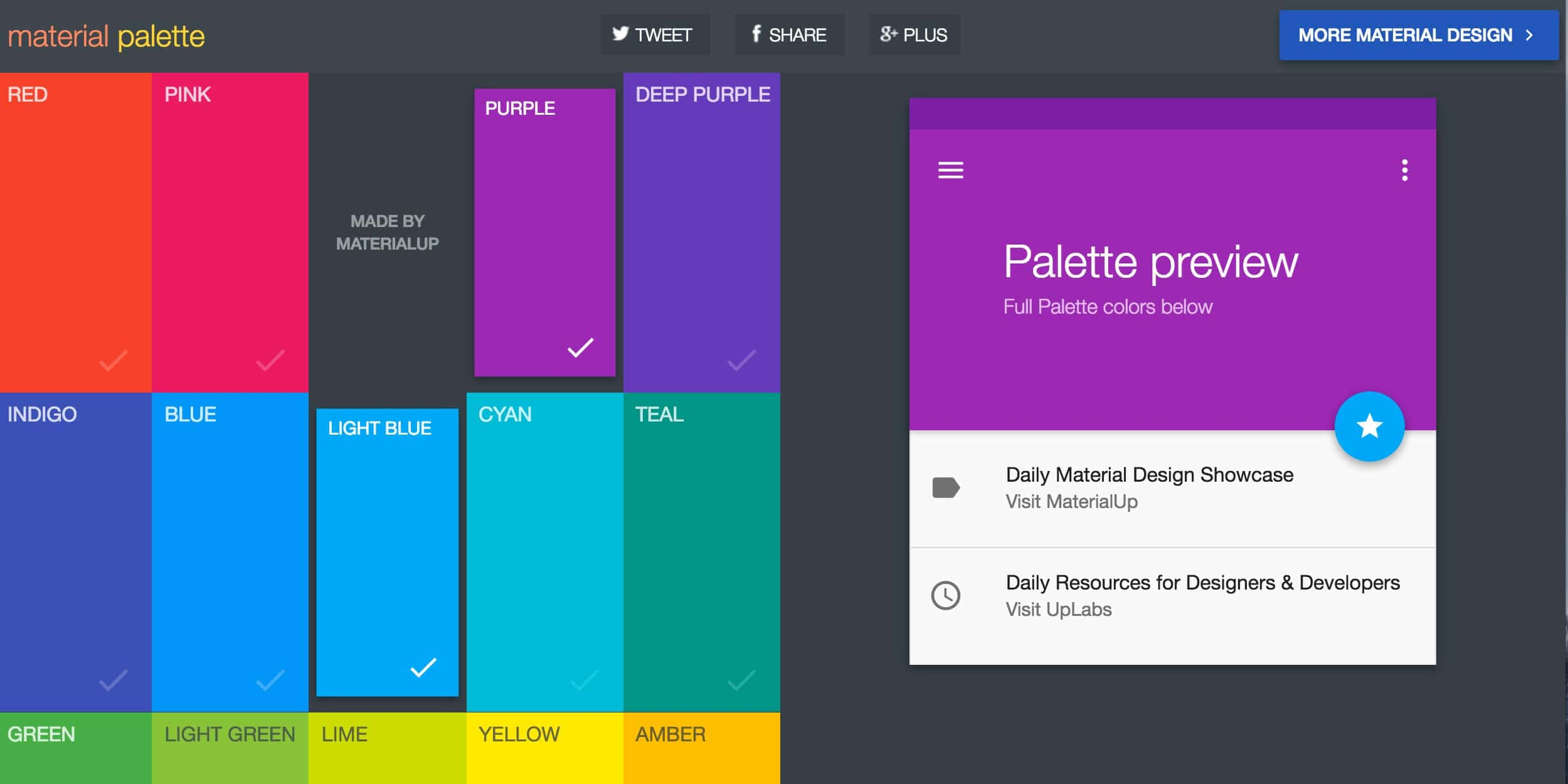Material Palette Resource