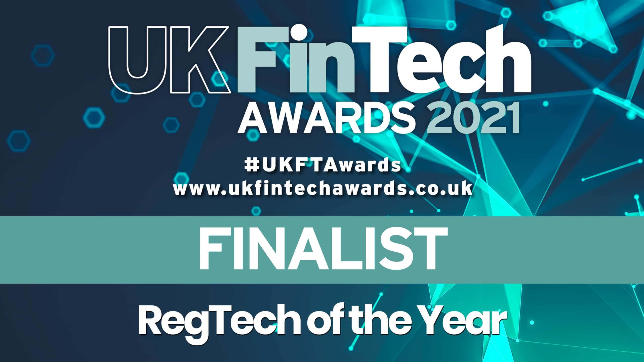 Recordsure UK FINTECH 2021 finalist For RegTech