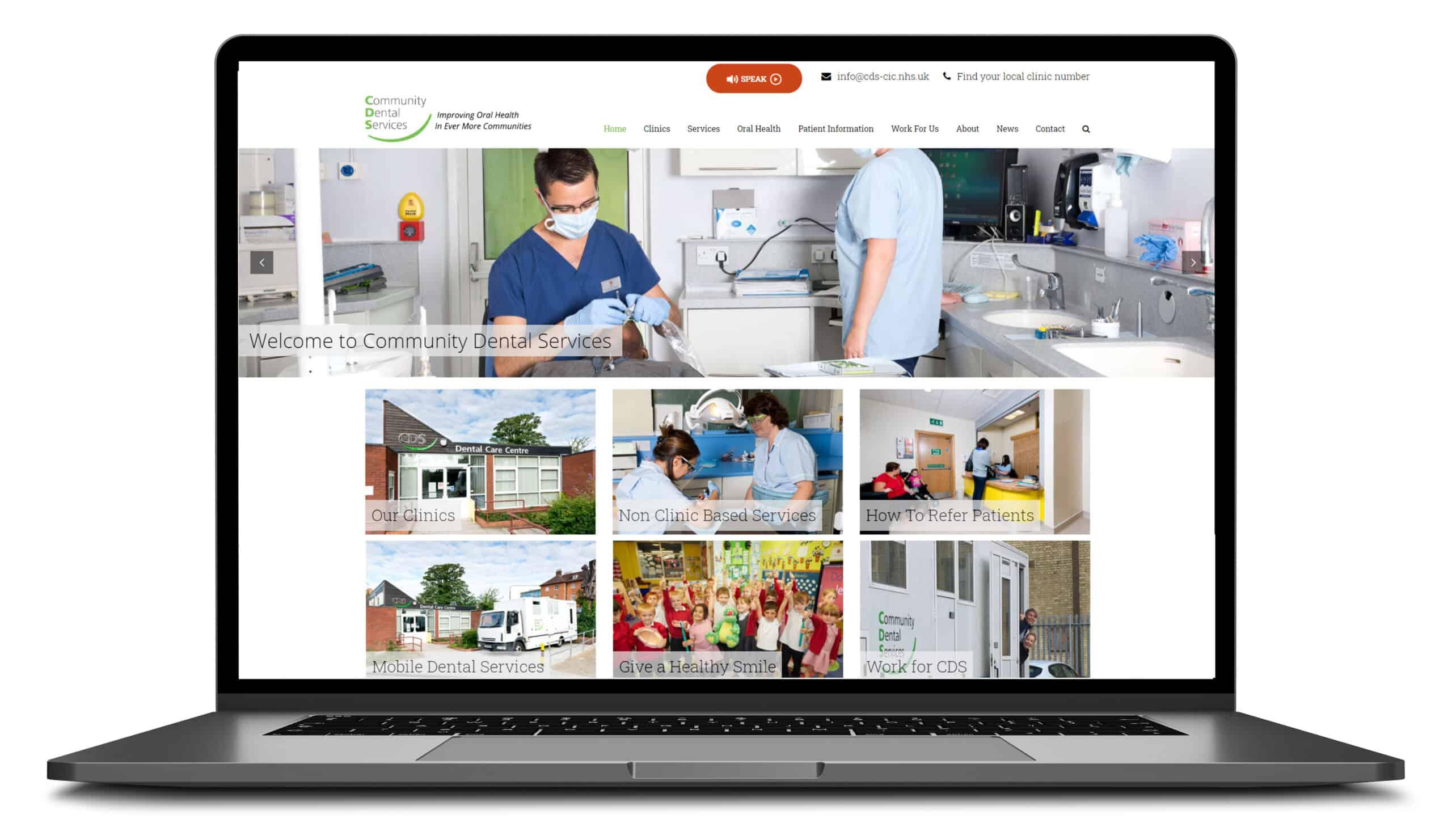 Community Dental Services Website Design Blue Dolphin