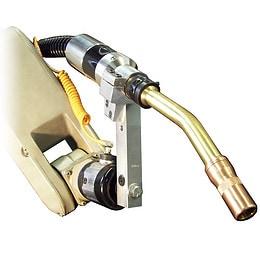 600 amp robotic water cooled MIG gun installed on robot