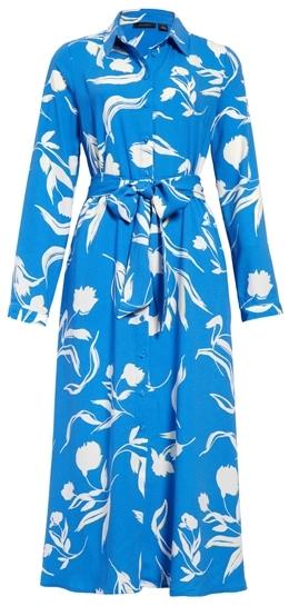 Halogen long sleeve midi shirtdress | 40plusstyle.com