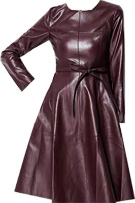 Leather Long Sleeve Dress   fashion over 40   style   fashion   40plusstyle.com