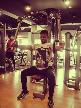 Guy doing strength training