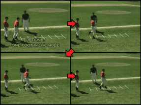 one foot one hole youth baseball drill