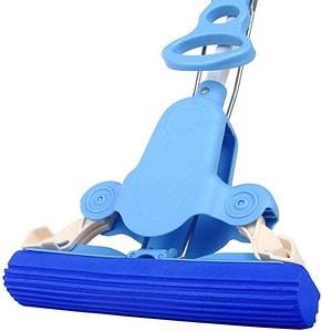 Mr. Siga Sponge Mop with Telescopic Handle - Blue
