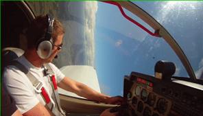 Aerobatics in basic flight training increases skill and confidence