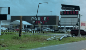 Shoppers buying supplies one week after landfall