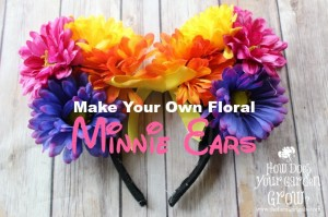 Make your own Floral Minnie Mouse Ears and show your #DisneySide. Perfect for your next trip to Walt Disney World or a fun craft for a Disney at Home Celebration.