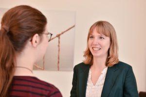 Gesprächssituation mit Annie Nürnberg
