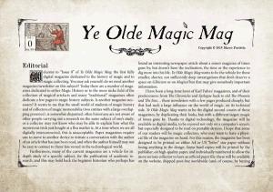 Ye Olde Magic Mag - Vol. 1 n. 0
