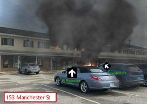 Multi family residence fire simulation screenshot