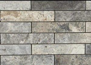 אבן טבעית מסוג טרוורטין בגוון אפור