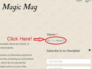 How to dowload Ye Olde Magic Mag - Step 1