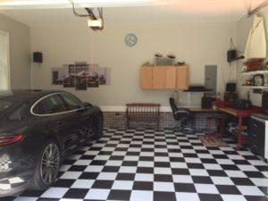 black and white garage floor tiles