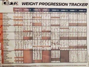 photo of tracking sheet