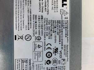 Dell 1400W Server PSU Label