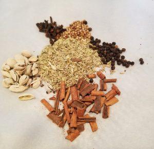 whole herbs used in chai tea recipe
