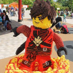 Socha v Legolandu německo - Ninjago