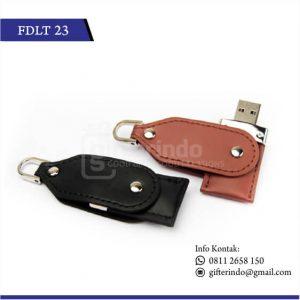 FDLT23 Flashdisk Kulit Custom Logo