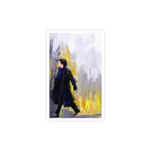 استیکر لپ تاپ پوستر هنری شرلوک