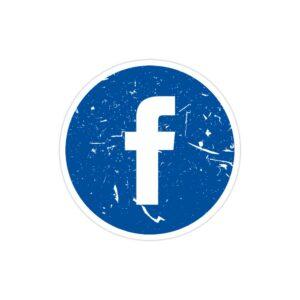 استیکر لپ تاپ مارک زاکربرگ - لوگوی فیسبوک