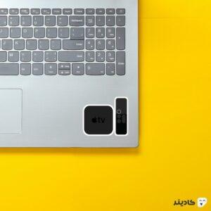 استیکر لپ تاپ استیو جابز - اپل تی وی روی لپتاپ