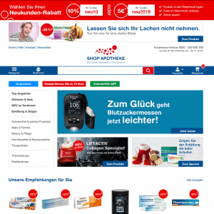 Screenshot Online Apotheke: Shop-Apotheke.com