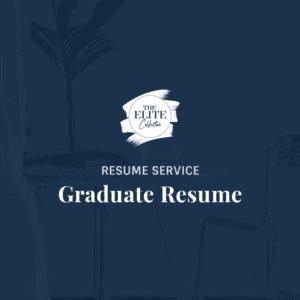 Graduate Resume Product Image
