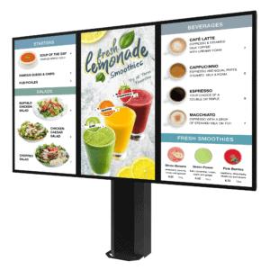 Peerless-AV KOF555-3-EUK | Всепогодная стойка для уличного цифрового меню