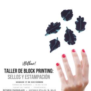 Taller Bilbao carvado de sellos Ana Sola