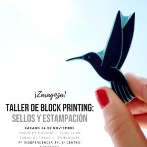 Taller Zaragoza carvado de sellos Ana Sola