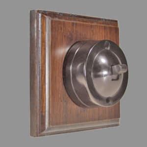 Bakelite 1 bank switch dark oak pattress