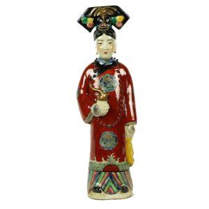 Porseleinen beeld Keizerin Rood