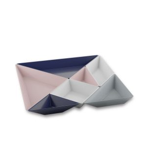 koziol tangram ready blue pink set schaaltjes