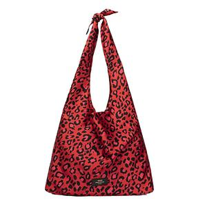 WOUF Red Leopard Satin Tote