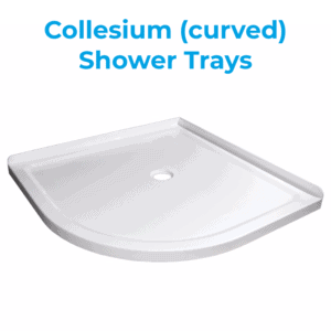 Collesium low profile corner shower trays 900mm and 1m