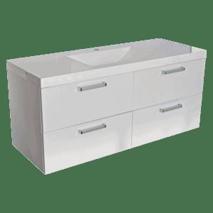 1200 Strata quad Vanity 4 drawer